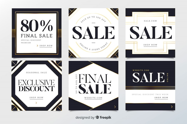 Modern sale web banners for social media