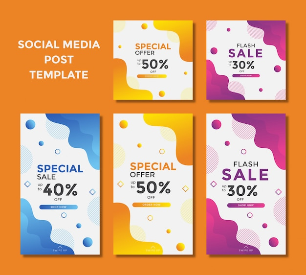 소셜 미디어 인스 타 그램 포스트를위한 현대 판매 배너