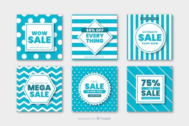 Modern sales banner for social media