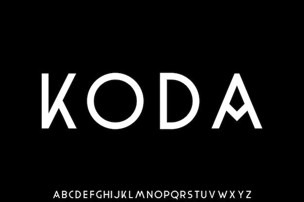 Modern sans serif font creative alphabet