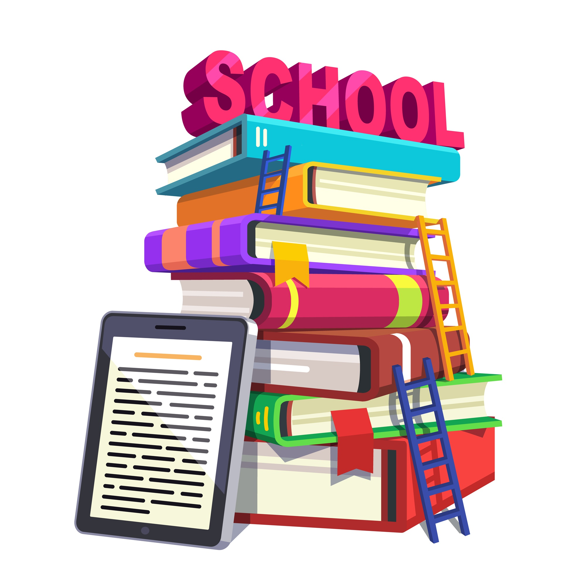 Modern school education and knowledge concept