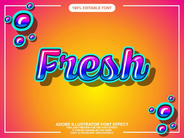 Modern script bold editable typography graphic style