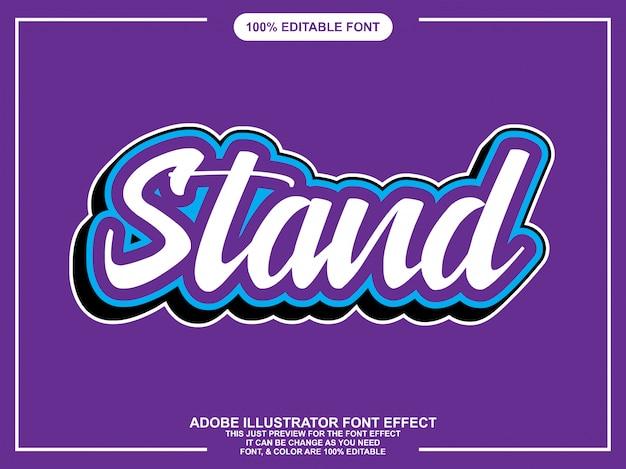 Modern script editable font effect