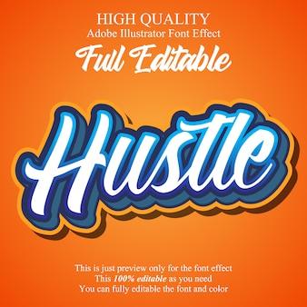 Modern script sticker editable typography font effect