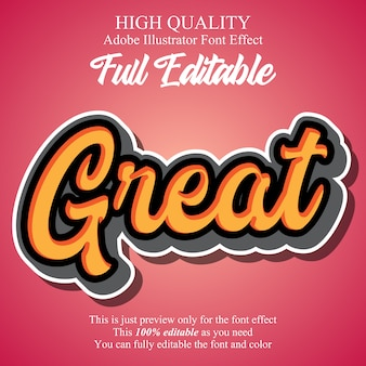 Modern script stickers editable typography font effect