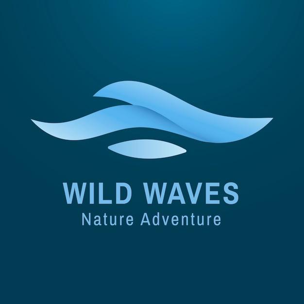 Modello moderno di logo del mare, illustrazione creativa dell'acqua per il vettore di affari