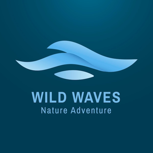 현대 바다 로고 템플릿, 비즈니스 벡터에 대한 창조적 인 물 그림