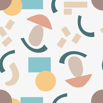 Modern seamless pattern of abstract geometric shapes