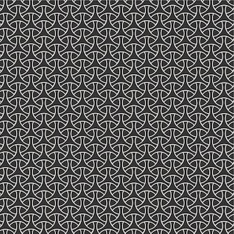 白と黒のストライプの三角形からモダンなシームレスパターン背景幾何学的三角形タイル
