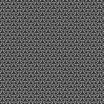 Modern seamless pattern background geometric triangle tiles from striped triangles white and black