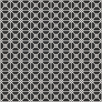 長方形スタイルの黒と白の古典的な高級フレームでモダンなシームレスパターン
