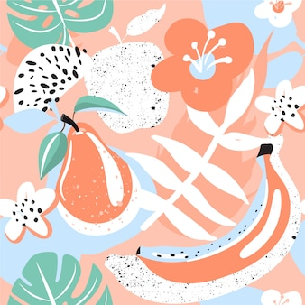 Modern seamless tropical pattern.