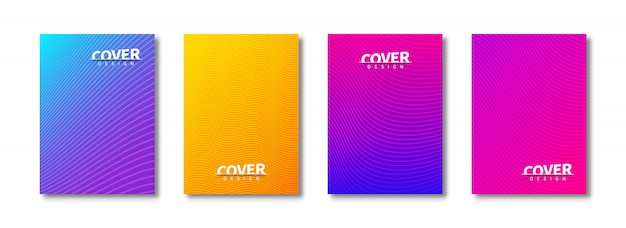 Modern set of abstract covers design. bright template covers.