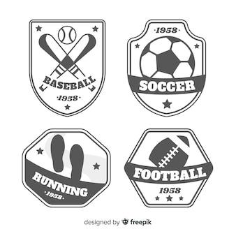 Modern set of abstract sports logos