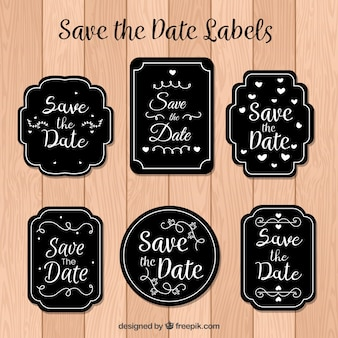 Modern set of elegant wedding labels