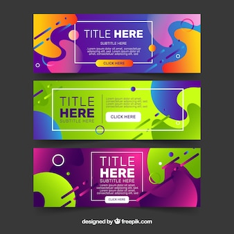 Modern set of abstract banners
