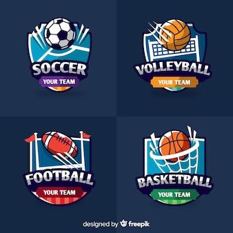 モダンな抽象的なスポーツロゴ