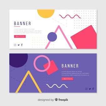 Modern set of colorful abstract banners