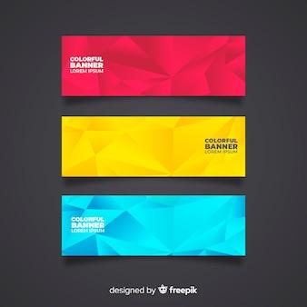 Современный набор красочных абстрактных баннеров