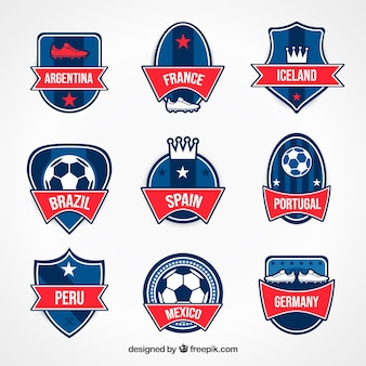 Modern set of football badges