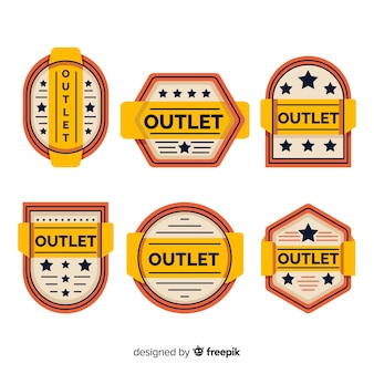 Modern set of outlet badges