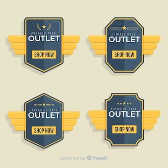 Modern set of outlet badges