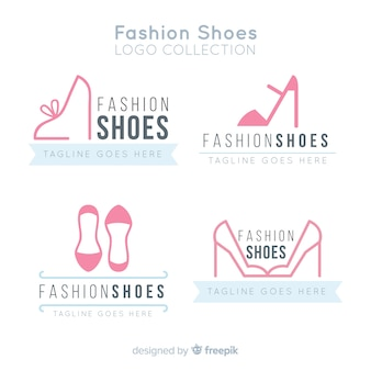 Modern set of shoes logos