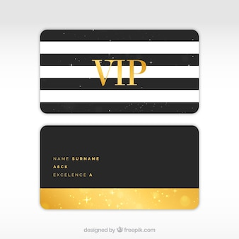Modern set of vip cards with stripes