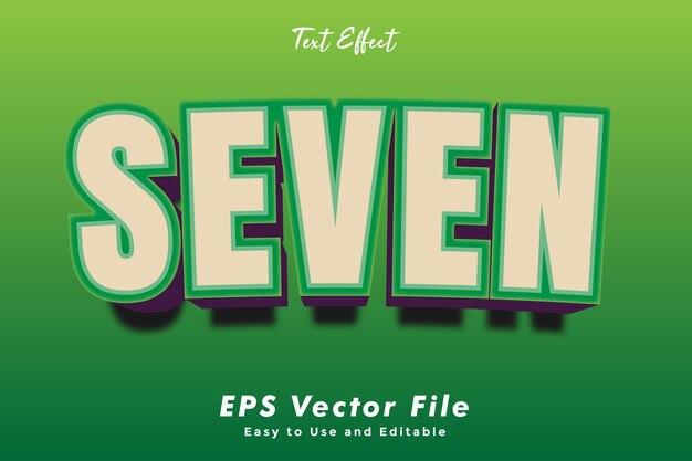 Шаблон эффекта типографики modern seven