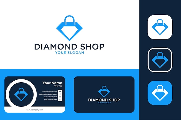 Modern shield with lock security logo design and business card
