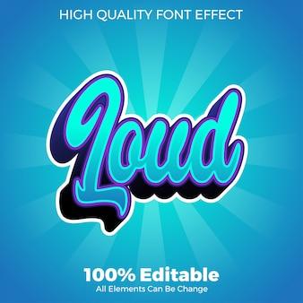 Modern shine loud text style editable font effect