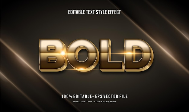 Modern shiny gold color illustrator text style effect,