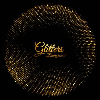 Modern shiny golden sparkles