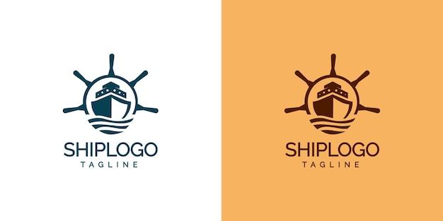 Modern ship logo design