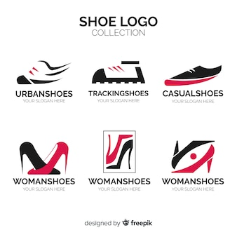 Modern shoe logo collection