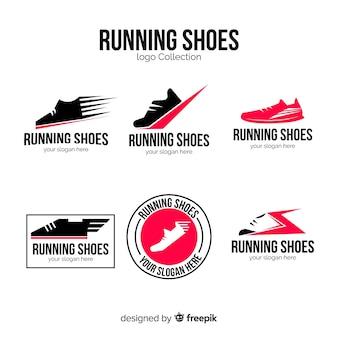 Современная коллекция логотипов обуви
