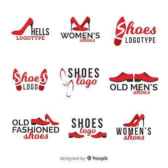Modern shoes logo template collection