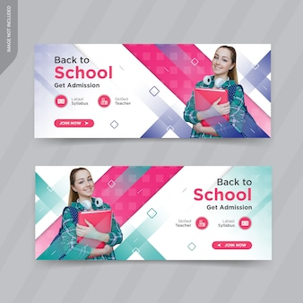 Modern shoes web banner templates design