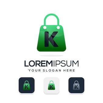 文字kのロゴテンプレートとモダンなショップのロゴ