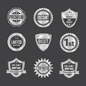 Modern shopping badges high quality shields emblem collection