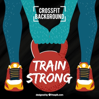 Modern silhouette background lifting weights