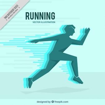 男走行現代のシルエットの背景