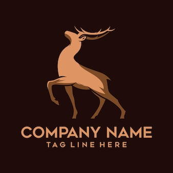 Modern silhouette logo deer