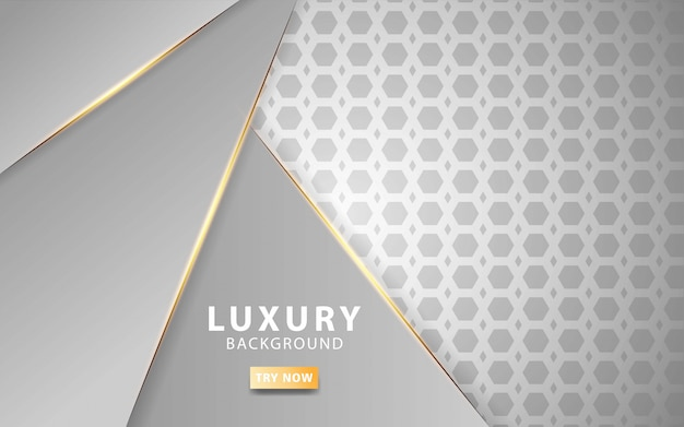 Modern silver abstract background with golden line