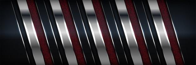 抽象的な背景のモダンなシルバーとブラックダークカーボン