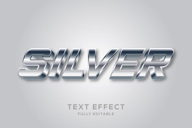 Современный серебряный редактируемый текстовый эффект