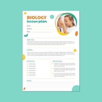 Piano di lezione di scienze biologiche semplice moderno