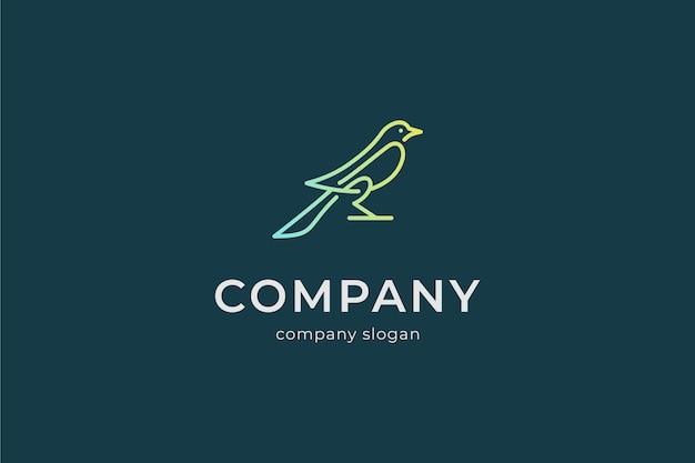 Modern simple bird logo vector icon illlustration