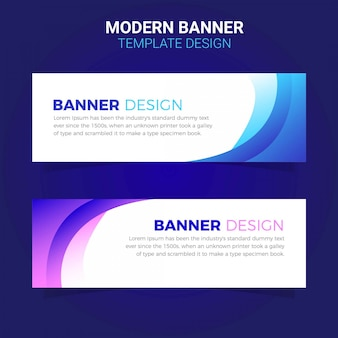 Modern simple business banner template web