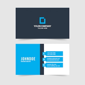Modern simple business card template collection.vol.100